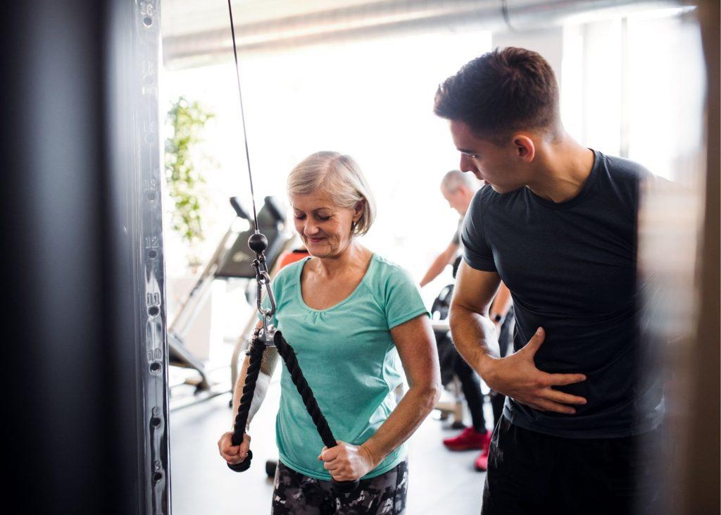 Muscle strength for seniors.